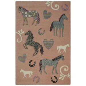 Detský Koberec Horse Love, 100/150cm, Ružová