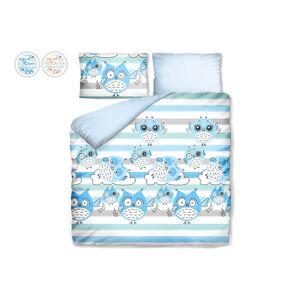 Posteľné obliečky s náladovými sovičkami Dormeo, 140x200 cm, modrá