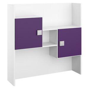 Nadstavec Na Písací Stôl Skate Biela/fialová